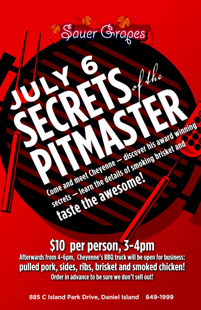 SUNDAY, JULY 6, SECRETS OF THE PITMASTER!